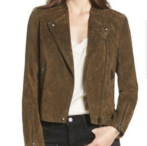 EUC Gorg BLANK NYC Genuine Suede Moto Jacket XS